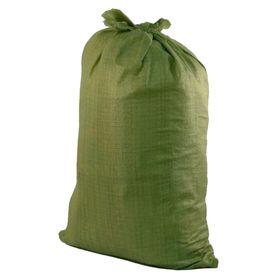 Мешок полипропиленовый 70 х 120 см, для строительного мусора, зеленый, 70 кг Ош