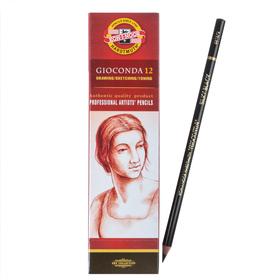 Карандаш художественный чернографитный 4.2 мм, Koh-I-Noor GIOCONDA 8815 HB, чёрный, L=175 мм Ош