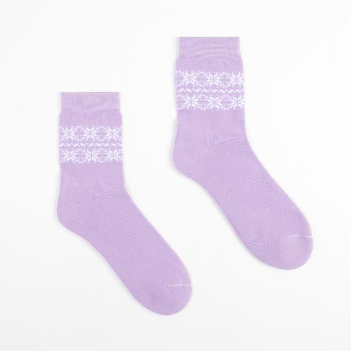 Носки детские махровые, цвет сирень, размер 22-24