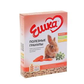Корм гранулированный «Ешка» для декоративных кроликов, полезные гранулы, 400 г Ош