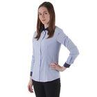 Рубашка женская, цвет голубой/горох, размер 48