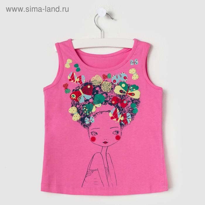 Майка для девочки, рост 116 см (60), цвет розовый_160082