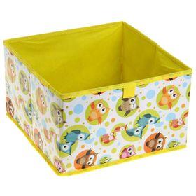 Короб для хранения «Совы», 29×29×18 см, цвет жёлтый Ош