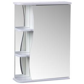 Зеркало-шкаф 'Тура', с тремя полками, 50 х 15,4 х 70 см Ош