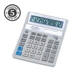 Калькулятор настольный 12-разрядный SDC-888XWH, 158*203*31мм, двойное питание, белый