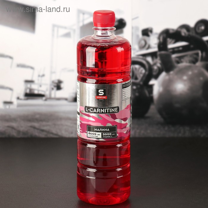 Напиток SportLine с L-Карнитином 6000mg 1000ml (Малина)