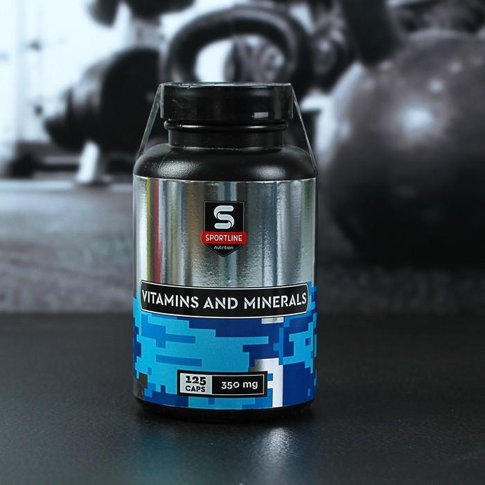 Витамины SportLine Vitamins and Minerals, 125 капсул