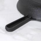 Сковорода 24 см, с чугунной ручкой и стеклянной крышкой - Фото 5