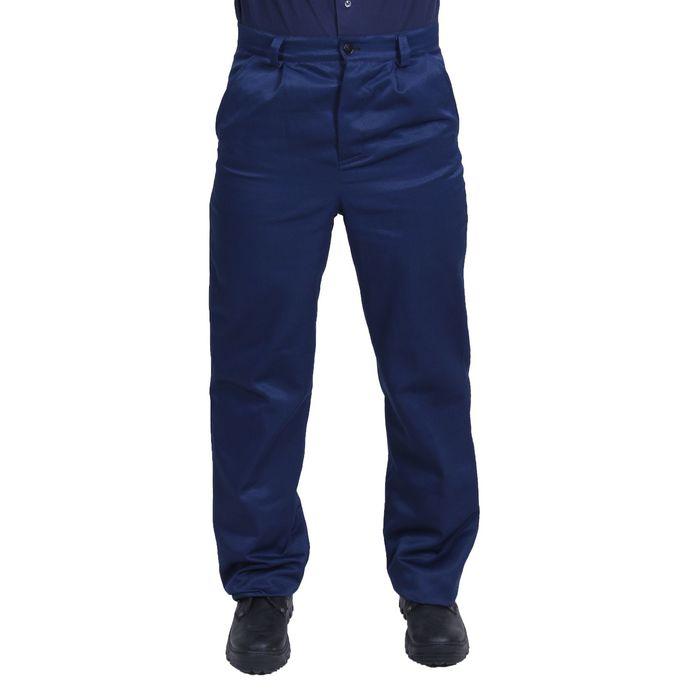 Брюки рабочие, размер 52-54, рост 182-188 см, цвет синий