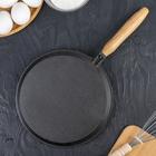 Сковорода блинная 22 см, с деревянной ручкой - Фото 7