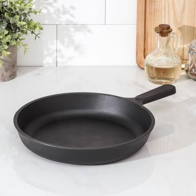 Сковорода 24 см, с чугунной ручкой - Фото 1