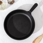 Сковорода 24 см, с чугунной ручкой - Фото 2