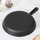 Сковорода 24 см, с чугунной ручкой - Фото 3