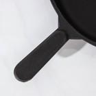 Сковорода 24 см, с чугунной ручкой - Фото 4