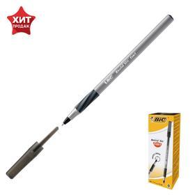 Ручка шариковая BIC Round Stic Exact, чернила черные, узел 0.7мм, одноразовая
