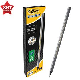 Карандаш чернографитный BIC HB Evolution BLACK, пластиковый