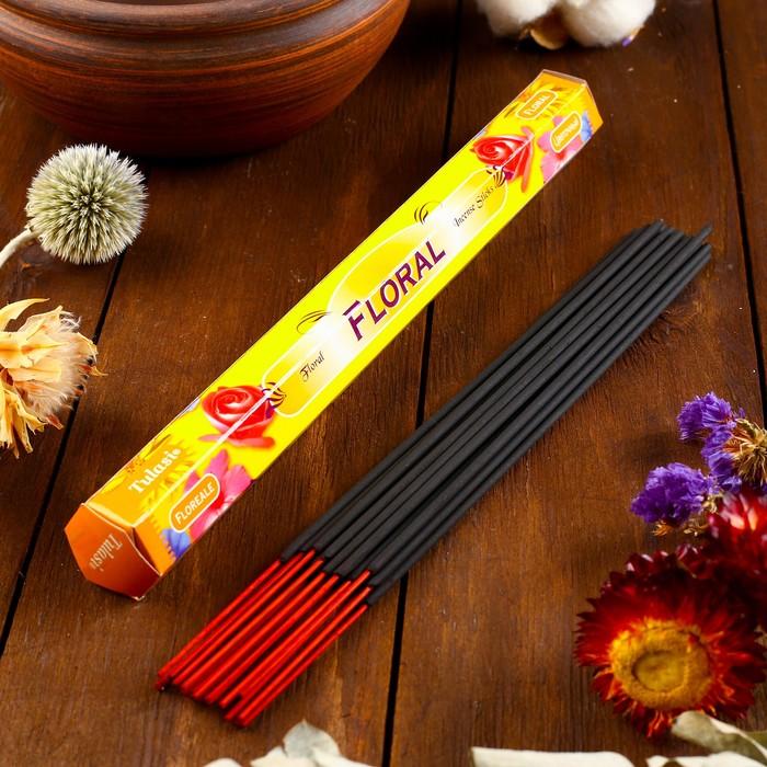 """Благовония Sarathi """"Floral. Цветочный"""", 20 палочек в упаковке, шестигранник"""