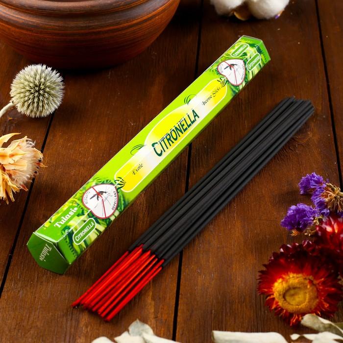 """Благовония Sarathi """"Citronella. Цитронелла"""", 20 палочек в упаковке, шестигранник"""