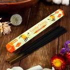 """Благовония Sarathi """"Vanilla Orange. Ваниль апельсин"""", 20 палочек в упаковке, шестигранник"""