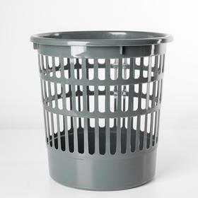 Корзина для мусора Полимербыт «Офисная», 9,5 л, цвет МИКС Ош