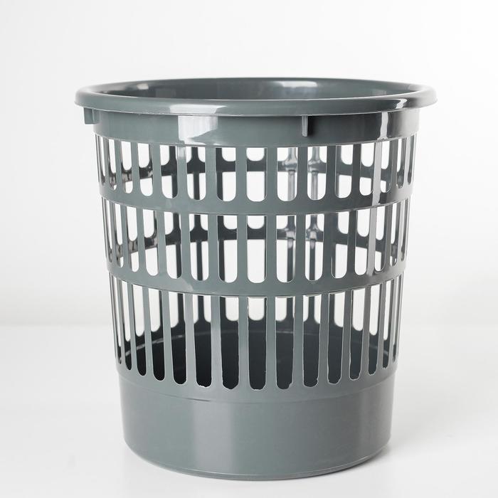 Корзина для мусора Полимербыт Офисная, 9,5 л, цвет МИКС