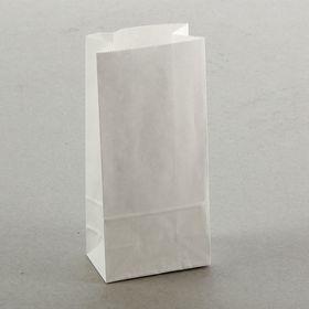 Пакет крафт бумажный фасовочный, белый, прямоугольное дно 8 х 5 х 17 см Ош