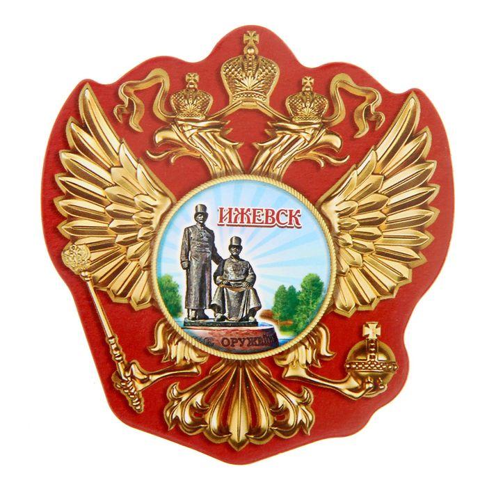 Магнит в форме герба Ижевск