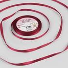 Лента атласная, 6 мм × 23 ± 1 м, цвет бордовый №37