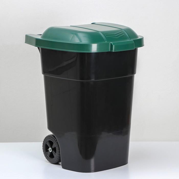 Контейнер универсальный на колесах 65 л Садовый, цвет зеленый