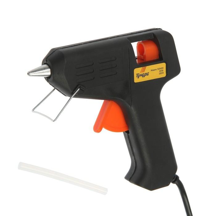 Клеевой пистолет TUNDRA, 20 Вт, 220 В, 7 мм
