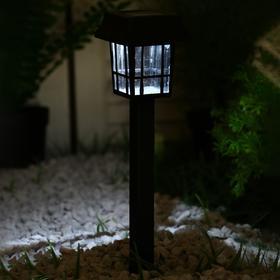 Фонарь садовый на солнечной батарее 'Фонарик' 32 см, 7*7 см, 1 led, пластик Ош