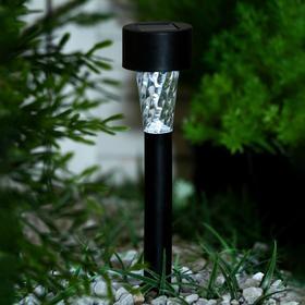 Фонарь садовый на солнечной батарее 'Трапеция' 30 см, d=4.5 см, 1 led, пластик, шоубокс Ош