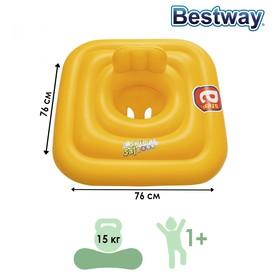 Плотик для плавания Swim Safe, ступень «A», c сиденьем и спинкой, 76 х 76 см, 32050 Bestway Ош