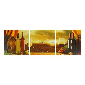 Часы настенные модульные «Вино. Закат», 33 × 33 см Ош
