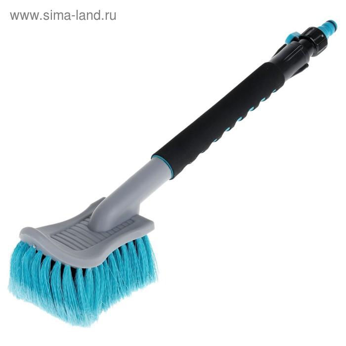 Щетка для мытья автомобиля Autovirazh AV-2181, 45 см, мягкая ручка, под шланг, кран