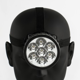 Фонарь налобный 'Мастер К.', 7 LED, 1 режим, 3 АА, 7.5х6.3 см Ош