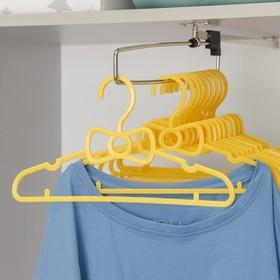 Вешалка-плечики для одежды детская, размер 30-34, цвет МИКС