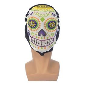 Карнавальная маска текстиль 'Череп' Ош