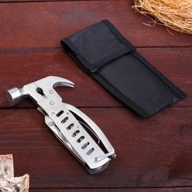 Инструмент многофункциональный 8 в 1, цвет металлик, в чехле 14х5х1 см Ош