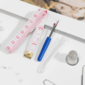 Набор инструментов для шитья, в пакете, цвет красный Ош