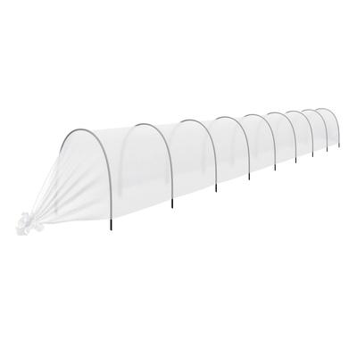Парник прошитый, длина 8.5 м, 9 дуг из пластика, дуга L = 2,4 м, d = 16 мм, спанбонд 35 г/м², Reifenhäuser, «уДачный» - Фото 1