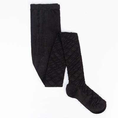 Колготки детские ажурные 2ФС73, цвет черный, рост 134-140 см