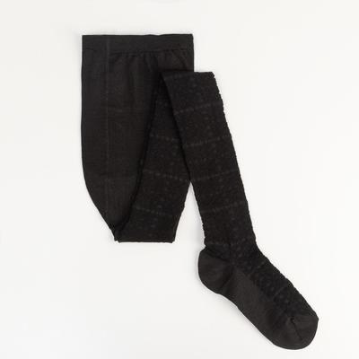 Колготки детские ажурные 2ФС73, цвет черный, рост 128-134 см