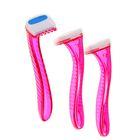 Набор станков для бритья зоны бикини LuazON, с 1 лезвием и увлажн. полоской, розовый, 3 шт