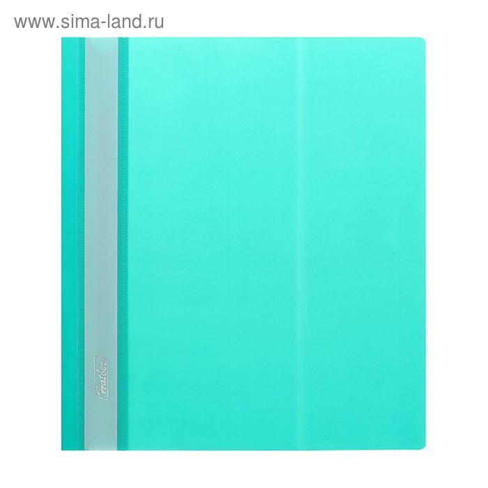 Папка-скоросшиватель А5, 140/180мкм Hatber, зеленая