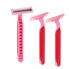 Бритвенные станки одноразовые LuazON, 3 лезвия, увлажняющая полоска, розовые, 3шт