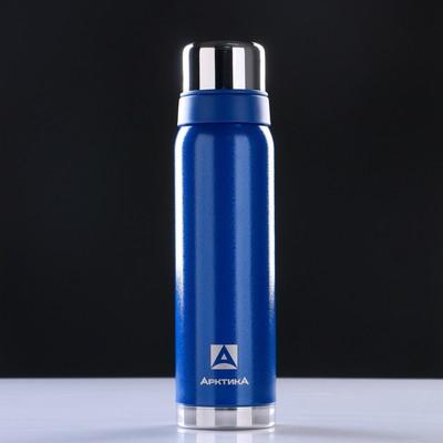 "Термос ""Арктика"", 900 мл, вакуумный, синий"