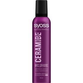 Мусс для укладки волос Syoss Ceramide Complex «Укрепление», максимально сильная фиксация, 250 мл