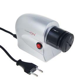 Ножеточка LuazON LTE-01, электрическая, для ножей/ножниц/отвёрток, 220 В, серая Ош