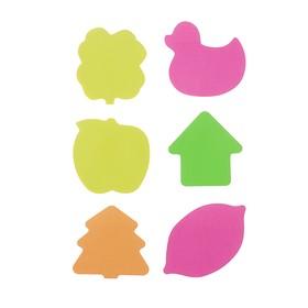 Блок с липким краем, «Фигурки», флуоресцентный, 30 листов, МИКС